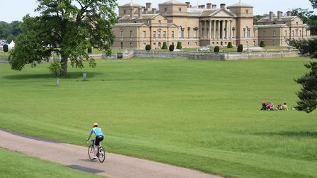 Cyclists enjoying riding around the Holkham Estate for the Pedal Norfolk Cycling Festival. Picture: