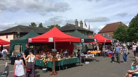 The action at a Spring into Summer Market on Thetford's Market Place. Picture: Courtesy of Joe Cunne