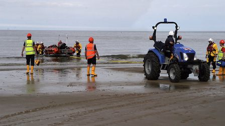 Cromer lifeboat was called out to rescue a man who had fallen: Picture: Cromer lifeboat