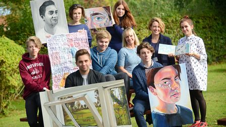 Staff and students at The Dereham Sixth Form College where the Art department has been named one of