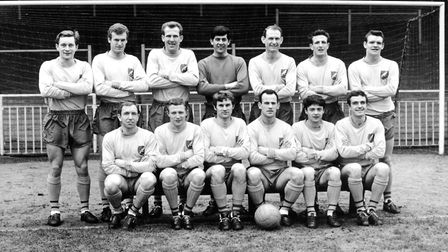Mal Lucas in the 1967 Canaries. Back row (left to right) Dave Stringer, Gordon Bolland, Laurie Brown