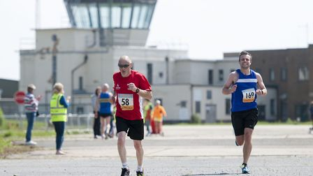 The former airbase hosted the Mike Groves 10k race. Picture: MARK BULLIMORE
