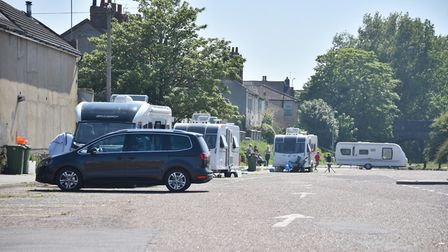 Travellers at Belvedere Road in Lowestoft. Picture: Archant.