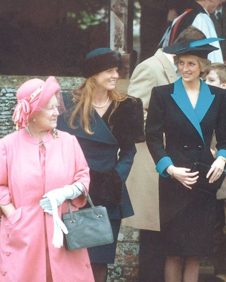 Diana at Sandringham, on Christmas Day, 1988. Picture: Archant library