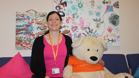 Cathy May, a volunteer at the Sure Start Children's Centre and Nursery, Bowthorpe. Photo: NCHC
