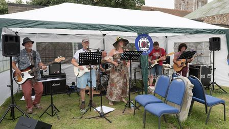 The fun day at St Andrews Church featured a wide range of activities and the band The Long Faces Pi