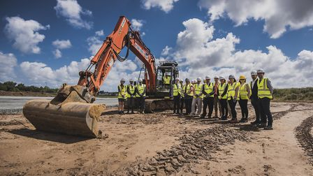 The first steps have been taken in the construction of an �8m base for Proserv in Gorleston. Photo: