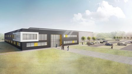 An atrists impression of what the building will look like. Image supplied by Great Yarmouth Borough