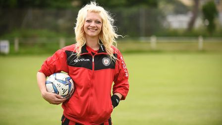 Jenna Bedwell is the new chairperson of Cromer Town Football Club. Picture: Ian Burt