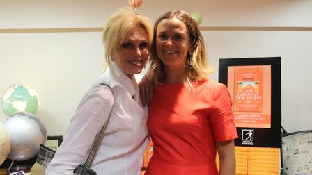 Author Antonia Bolingbroke-Kent, with actress Joanna Lumley at the book's launch in London. Photo: A