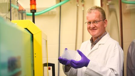 Scientist Dr Simon Stafford at his manufacturing factory in Watton. Picture: Ian Burt
