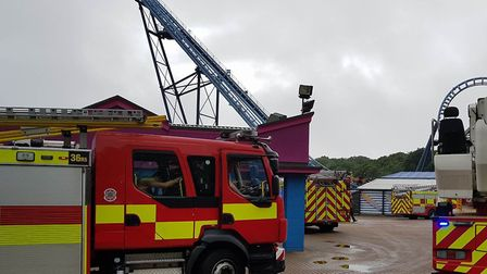 A man was rescued from a ride at Pleasurewood Hills (Picture: Submitted by David Hanwell)