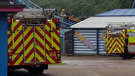 Several fire crews attended the scene (Picture: Submitted by David Hanwell)