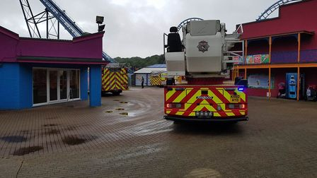 Emergency services were called after a reports a man had been suffering from back pain on a ride, be