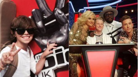 Two youngsters from Norfolk were competing for a spot in The Voice Kids semi-finals this weekend. Le