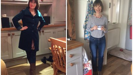 Morna Hill, (L-R), before and after her weight loss. Photo: Morna Hill