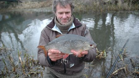 John Bailey with the last of his super roach. Picture: John Bailey