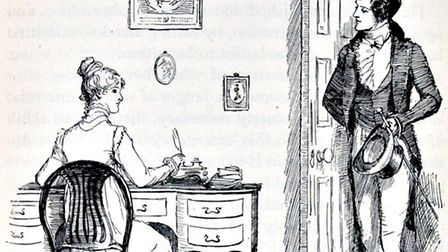 An illustration from a historic edition of Pride and Prejudice. Photo: Archant Library