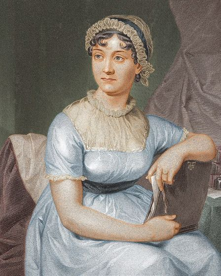 Jane Austen, apparently - from an 1873 portrait painted long after her death