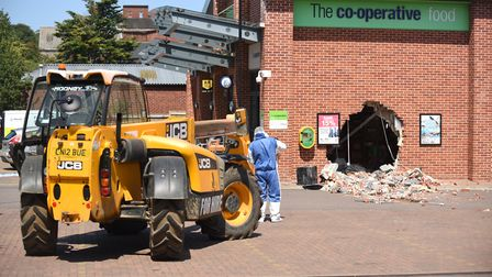 Ram raiders have hit the Co-op store on Polka Road in Wells. Picture: Ian Burt