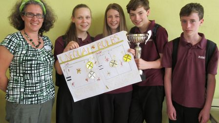 Four students from Reepham High School won the �Feel the Physics� challenge, organised by the Instit