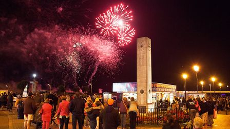 Fireworks on Great Yarmouth seafront. Photo: TMS Media