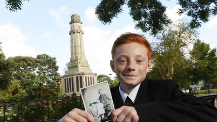 Chase Nichols,12, has won a history prize for researching the life of his great-great grandfather, H