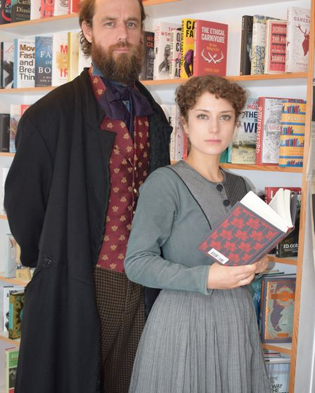 Actors Nadia Clifford and Tim Delap, who play Jane Eyre and Mr Rochester in the National Theatre and