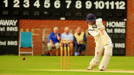 Suffolk's Alex Oxley followed up a half century with a duck against Norfolk yesterday. Picture: Tim