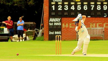 Suffolk's Jaik Mickleburgh shone in the familiar surroundings of Manor Park yesterday. Picture: Tim