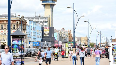 Great Yarmouth in the middle of the summer holidays. August 2015. Picture: James Bass