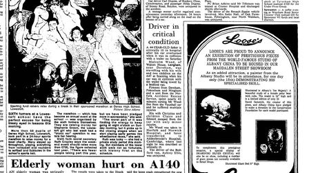 How the EDP reported Malcolm Wood's crash on November 13, 1989. Picture: LIBRARY.