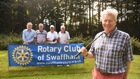 Swaffham Rotary charity fundraising golf day at Swaffham Golf Club. Pictured representing SSAFA are