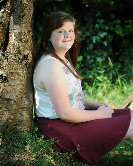 Heart transplant survivor Ella Tovell pictured in 2013 when she was 16. She is now 20-years-old. PH