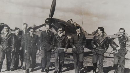 Tom Neil, who was a Battle of Britain pilot, attended RAF Coningsby to mark the 60th anniversary of