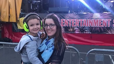 Anna and George Cobb were the first to arrive at the KT Tunstall concert, King's Lynn Festival Too.