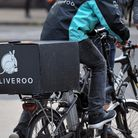 File photo of a Deliveroo cycle rider in central London. Photo: Nick Ansell/PA Wire