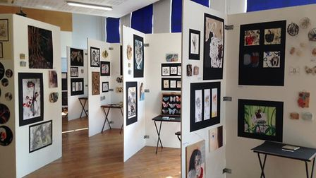 The art exhibition at Great Yarmouth High School welcomed members of the public for the first time.
