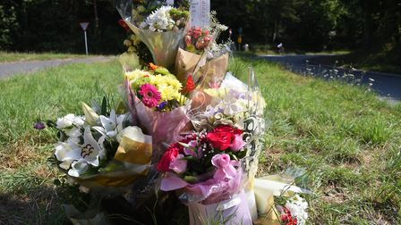 Flowers have been laid at the scene of the incident. Photo: Nick Butcher
