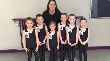 Young dancers from Centre Stage School of Dance, Thetford. Left to right: Darcee Cogan; Georgie Wake