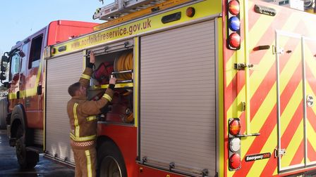 Firefighters had to use hydraulic rescue equipment to free two people from the vehicles on Norgate L