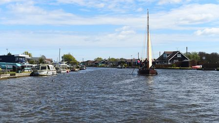 An afternoon on the Norfolk Broads. Picture: Ian Burt