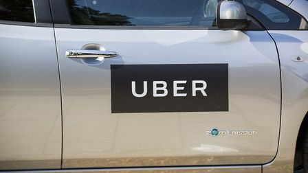 Stock photo of an Uber sign. The ride-hailing app will not be able to operate in London after Septem
