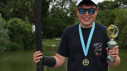 Thoman Gell, 12, the best overall angler, caught over 22lb of fish. Photo: Sarah Thomson