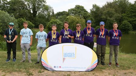 The winning team at the Norfolk Summer School Games, at Barford Lakes. Photo: Matthew Potter