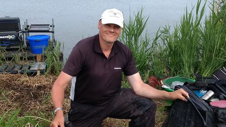 Karl Redgrave with his 60lb 4oz winning haul at the Open match on the River Yare. Picture: Karl Redg