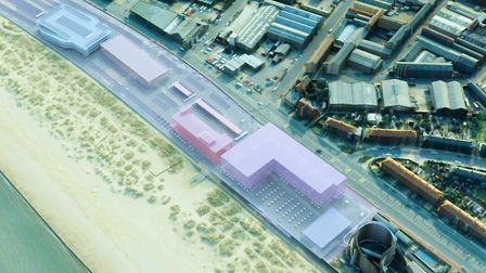 Proposed massing. Courtesy of Collado Collins Architects/ Pater van Aalst