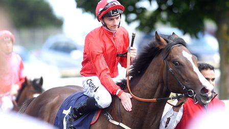Chatburn with jockey Danie Tudhope after success at Great Yarmouth yesterday .Picture: Nick Butcher