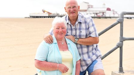 Holidaymakers John and Muriel Greenock from Edinburgh have been coming to Great Yarmouth for 45 year