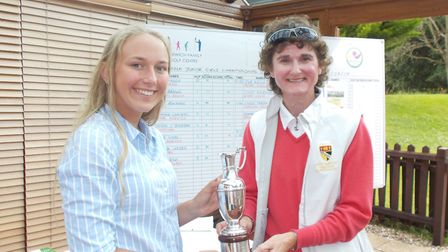 Ladies County captain Sam Martin and Amy Taylor. Picture: Jane Bizley